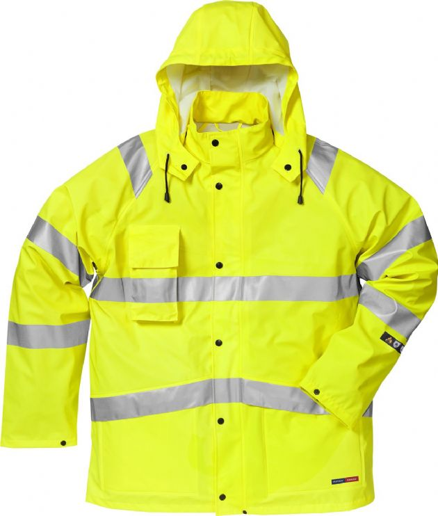 Fristads Flame High Vis Rain Jacket CL 3 4845 RSHF (Hi Vis Yellow)